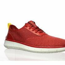 Cole Haan Mens Generation Zerogrand Red Dahlia Knit Fashion Sneaker Size 8.5 Photo