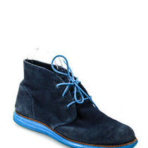 Cole Haan Mens Suede Chukka Ankle Boots Navy Blue Size 8.5b Photo