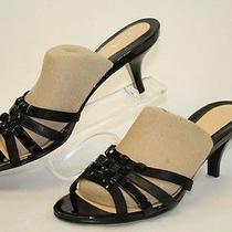 Cole Haan Mismatch 9.5 / 9 Womens New Black Leather Heels Sandals Shoes Mu Photo
