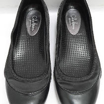 Cole Haan Nike Air Black Leather Satin Trim Ballet Flats Shoes Size 7 Worn Once Photo