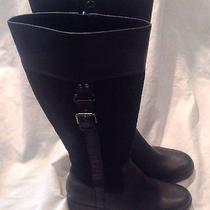 Cole Haan Nike Air Black Leather/suede Knee High Boots Women's Sz 7b Photo