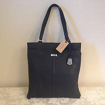 Cole Haan Nwt B43820 Village Ii Marcy Market Tote Black Pebble Leather Bag Photo