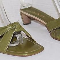 Cole Haan Olive Green Leather Mules 1.75