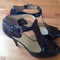 Cole  Haan Open Toe Platform Heel Silver Size 8 B Made in Brazil Photo