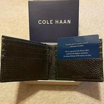 Cole Haan Pebbled Black Leather Slim Bi-Fold Men's Wallet Photo