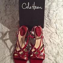 Cole Haan Red High Heel Sandals Sz 8b Photo
