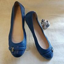 Cole Haan Reesa Wome'ns Nikeair  Buckle Blue Ballet Flats Leather Size 11 Photo