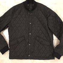 Cole Haan Signature Diamond Quilted Bomber Jacket Coat Liner Men's Large L Black Photo