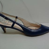 Cole Haan Size 6 M Juliana Low Sling Blue Leather Heels Pumps New Womens Shoes Photo