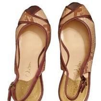 Cole Haan Snakeskin Print Wedge Sandal Open Toe Size 8.5 B Photo