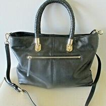 Cole Haan  Soft Black Leather Shoulder Tote Handbag Purse Photo
