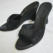 Cole Haan Style D19542 J5 Black Wedge 3  Heels Slide Sandals (8b)  Photo