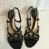 Cole Haan Vineyard Black Patent Slingback Dress Sandal 9.5 B Studs Open Toe Photo