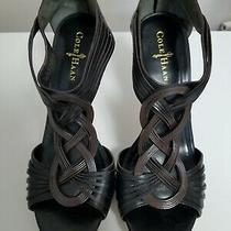 Cole Haan Vivian Black Air Sandal Sz 9.5 Preowned With Box and Dust Covers Photo