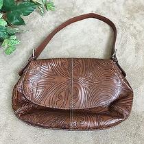 Cole Haan Western Purse Handbag Boho Brown Leather Shoulder Bag - Excellent Photo