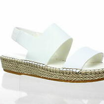 Cole Haan White Leather Cloudfeet Slingback Espadrille Sandal Shoes Size 10b Photo