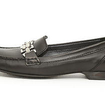 Cole Haan Women's Black Leather Anjali Moc Slip-on Flats Loafers Size 9 B  Photo