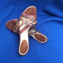 Cole Haan Women's Brown Leather Sandal Heel Size 75 Photo