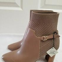 Cole Haan Women's Camille Bootie (85mm) Ankle Bootheels Beige Leather Size 8 B Photo