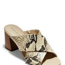 Cole Haan Women's Dakota Snakeskin Printed Crisscross Block Heel Sandal Size 8 Photo