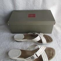Cole Haan Women's Shoes Size 8 B White Air Belize Leather Sandals Open Toe Flip Photo