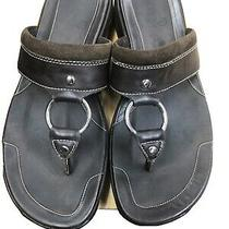 Cole Haan Women Sz 7b Brwn Leather Sandals W/chrome Center Ring. Built to Last Photo