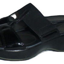 Cole Haan Womens Black Wedge Sandals Shoes Size 8 Photo