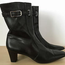 Cole Haan Womens Dark Brown Leather High Heel Pointed Toe Ankle Boots Size 8 Aa Photo