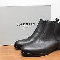 Cole Haan Womens Landsman Bootie Size 8 Black Leather Pull on Boots New - 5395 Photo
