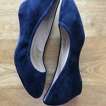 Cole Haan Womens Sadie Navy Suede Slip on Wedge Heels 8medium (Bm) Bhfo 1624 Photo