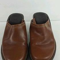 Cole Haan Womens Shoes Size 9b Brown Leather Clogs Mules Wedge Heels Footwear Photo