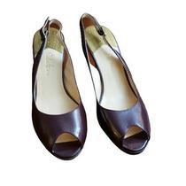 Cole Haan Womens Soft Leather Open Toe Platform Pump Heels Shoes Size 8 Photo