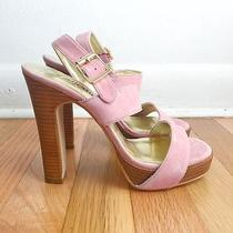 Colin Stuart Blush Light Pink Suede Heels 6.5 Leather Cute Sexy Barely Used 4.5