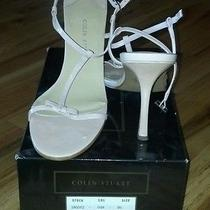 Colin Stuart Stilettos High Heels Blush Pink Bridal Wedding Bow Shoes Size 9 9.5 Photo