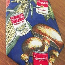 Collectable  Campbell Soup Tie-- Silk- Free Shipping Photo