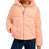 Collection B Cropped Corduroy Puffer Coat Juniors Large Blush Pink 119 Photo