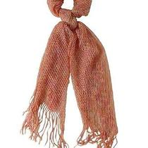 Collection Eighteen Women's Metallic Blend Fabric Net Scarf (Blush Os) Photo