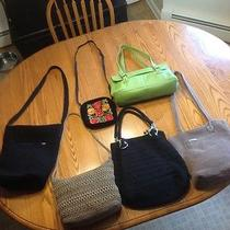 Collection. See Photos. Sak Black Beige Tan Crochet & Others  Bag Purse Photo