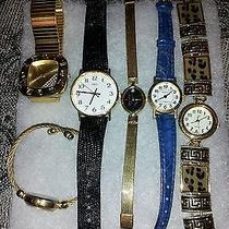 Collectors Lot of 6 Watches From Fashion to Oscar De La Renta & More Great Lot Photo