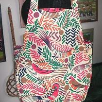 Collier Campbell Habitat Egyptian Birds Fabric Tote / Hobbies Bag Lined in Red Photo
