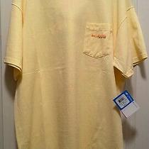 Colombia New Men's Elements of Fishing T-Shirt Yellow Gw899 Size Xl Photo