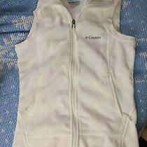 Colombia Womens Vest Fleece Sleeveless Full Zip Pockets Collared White Size Xs Photo