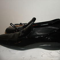 Color Black Shiny Leather Authentic Italy Prada Loafer Moccasin Shoes Size 38.5 Photo