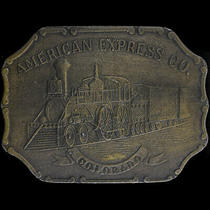 Colorado American Express Railroad Rr Ry Train Gift 70s Vintage Belt Buckle Photo