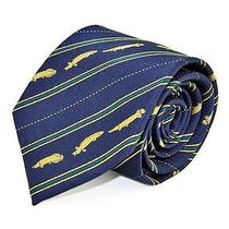 Colorata Tie Necktie - Fossil Fish - Navy Photo