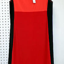 Colorblock Ellen Parker Sleeveless Dress Red Orange  M Medium Nwt  Free Shipping Photo