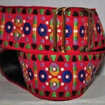 Colorful Folk Art Gypsy Hobo Retro Vintage Hippie Woven Folk Art Cloth Belt Photo