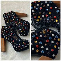 Colorful Jeffrey Campbell Booties Boots Handmade Havana Shoes Size 9 Photo