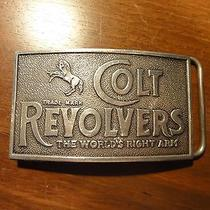 Colt Revolversadina Solid Sterling Silver Belt Buckletiffany & Companyvintage Photo
