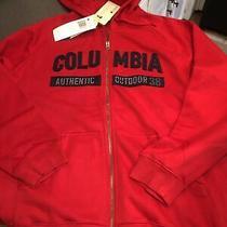 Columbia 2xl Xxl Hoodie Red Full Zip Sweatshirt Jacket New Photo